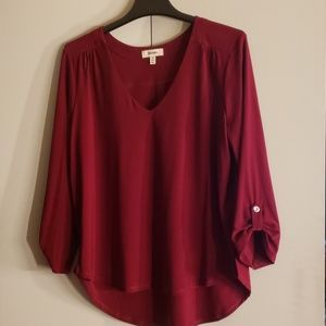 Cranberry red blouse